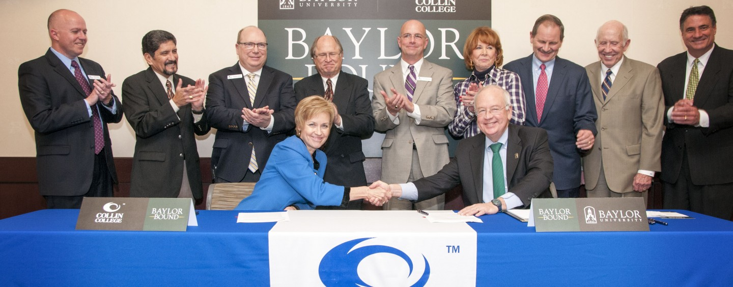 Collin College and Baylor University Announce Partnership  on New 'Baylor Bound' Transfer Agreement