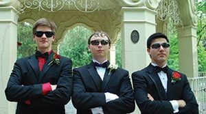 Adam Greenspan, far right, pictured with friends at Prom 2013