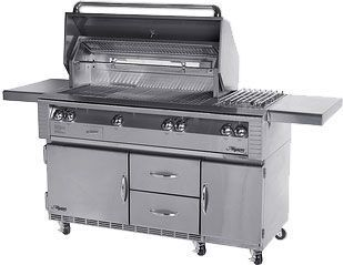 "56"" ALX2 Deluxe Grill on Refrigerated Cart"