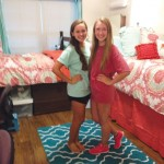 Madison, on left, with roommate Reilly Masterson, in their TCU dorm