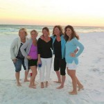 Spring Break in Destin, Florida   L to R: Leslie Gilvar, Susie Learmont, Amy Depner, Sue Benton and Traci Koen
