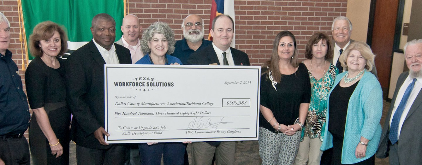 Richland College Receives Grant from Texas Workforce Commission