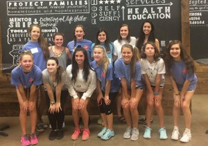 Members of NCL Frisco at Shoes For Orphan Souls.