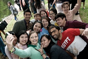 Pictured above are students at the Richland College International Festival.