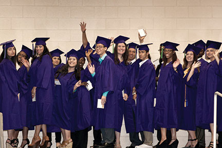 Richland College offers students living in contiguous counties the opportunity to enroll in Richland Collegiate High School (RCHS), one of the first junior-senior dual credit charter high schools administered by a community college. The TEA Exemplary-rated RCHS has capacity for up to 900 students who may simultaneously earn a high school diploma and an associate degree. Pictured right are 2015 Richland College Graduates.