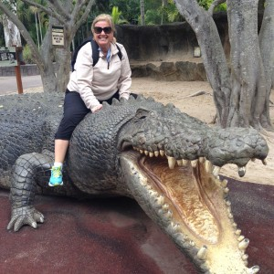 "Wendy at the world renowned Australia Zoo. Says Wendy, ""I really try to travel to all the places I recommend!"""