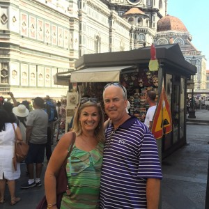 Wendy and her husband, John, in Florence, Italy.