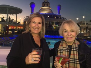 Wendy with her mom, Barbara Matles, aboard the Royal Caribbean Anthem of the Seas.