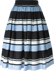 Dolce & Gabbana striped, pleated skirt