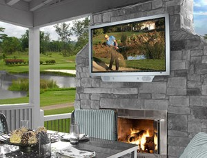 """Outdoor TVs are completely encased and weatherproof; if they get dirty, they can be hosed off, and the picture is great, even in direct sunlight.""     - Chris Vaughan, Sales Manager,       Starpower"