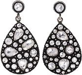Yossi Harari earrings with rose cut diamonds