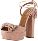 Aquazzura Wild One Tassel Sandle in Vintage Pink