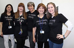 Among the staff members at Plano Family Literacy School who provided tours for guests at the February 25 event were Vaishali Deshpande, Helen Nygaard, Sandra Felsenstein, Connie Key and Rachel Lee.