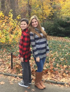 """I didn't understand it at the time, but this diagnosis changed my life forever."" -Brooke Benjamin, 17, pictured here with her brother Jackson, 14."