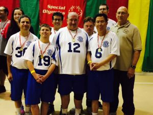 Bradley plays volleyball for the Special Olympics.