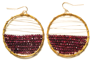 Garnet-Earrings