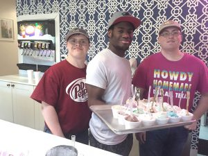 Owner, Tom Landis says he owes the success of Howdy Homemade Ice Cream, not only to the delicious ice cream, but also to the dedicated employees who come to work each day with a smile on their face and provide the ultimate in customer service. At Howdy Homemade Ice Cream, 14 of the 16 employees have special needs.