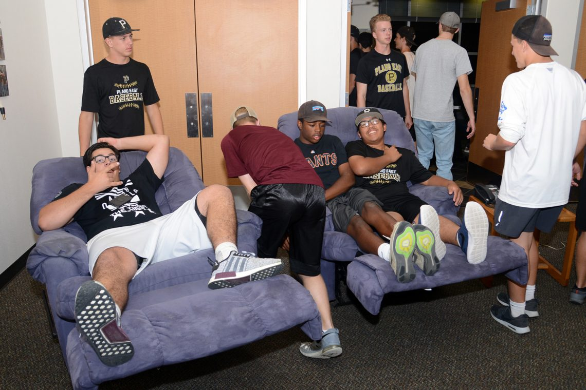 Plano East Baseball Team Treats Firefighters