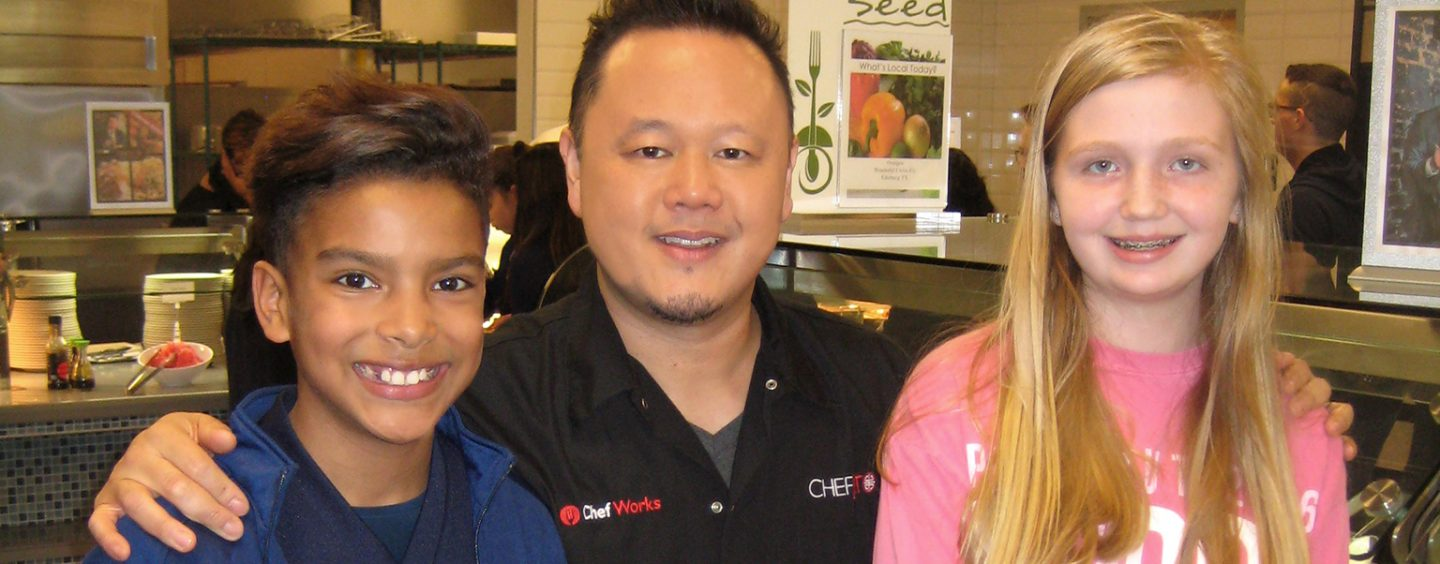 Food Network Chef Promotes Healthy Eating at Schools