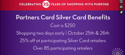 Save 25% with Partners Card Silver