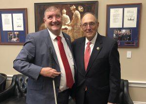Michael Jernigan with Congressman Phillip Roe