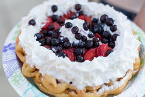 Funnel Cake with Berries